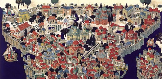 Illustration of Byzantium (Constantinople)