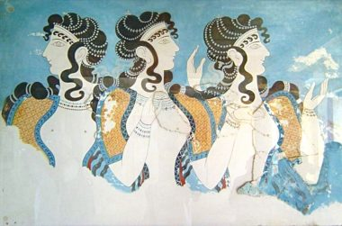 Fresco from the palace of Knossos.