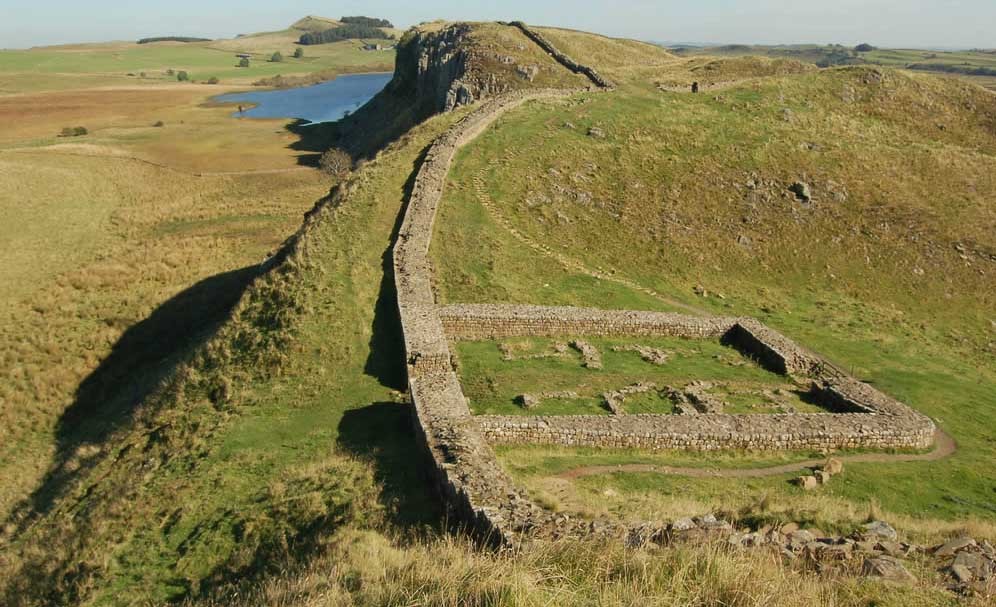 Sections of Hadrian's Wall remain in Britain