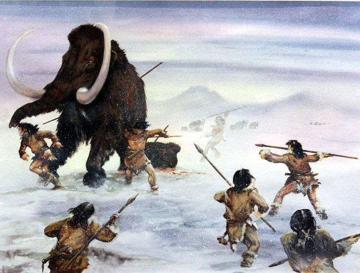 Example of hunting in paleolithic