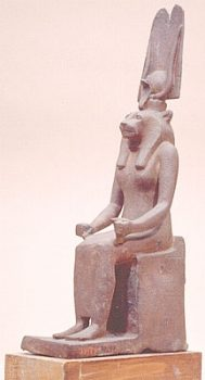 Lion headed goddess Sekhmet.