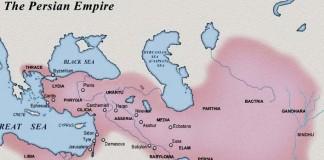 Persian empire around 500 BC