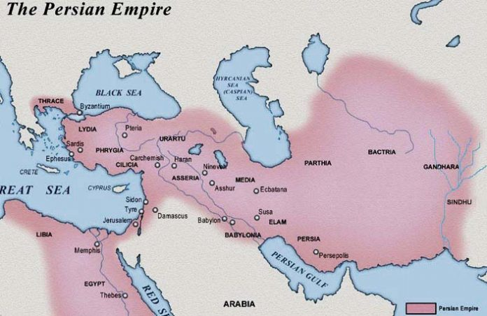 Persian empire around 500 BC
