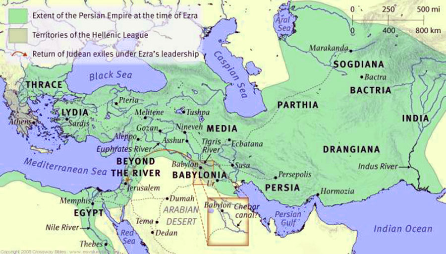 Persian empire around 500 B.C