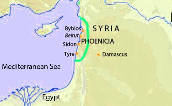Phoenicia map